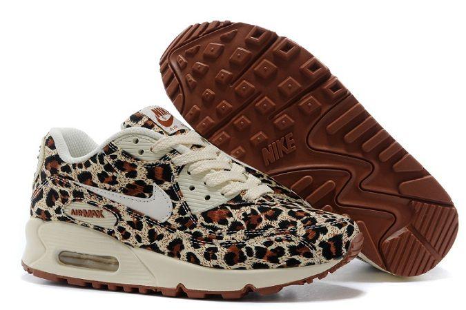separation shoes 75073 d3a22 Nike Air Max Max Max 90 Femmes Léopard Imprimé Blanc Pas Cher Air Max 4d6610