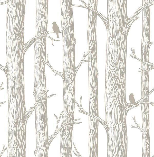 The Forest Grey Trees Peel And Stick Wallpaper Products Flure Tapeten Kunst