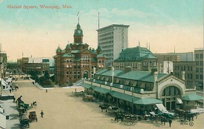 Winnipeg City Hall and Public Market replaced in 1964.