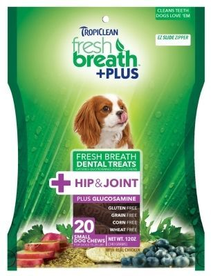Tropiclean: Fresh Breath Plus Dental Treats Hip/Joint, Usa 12Oz Small
