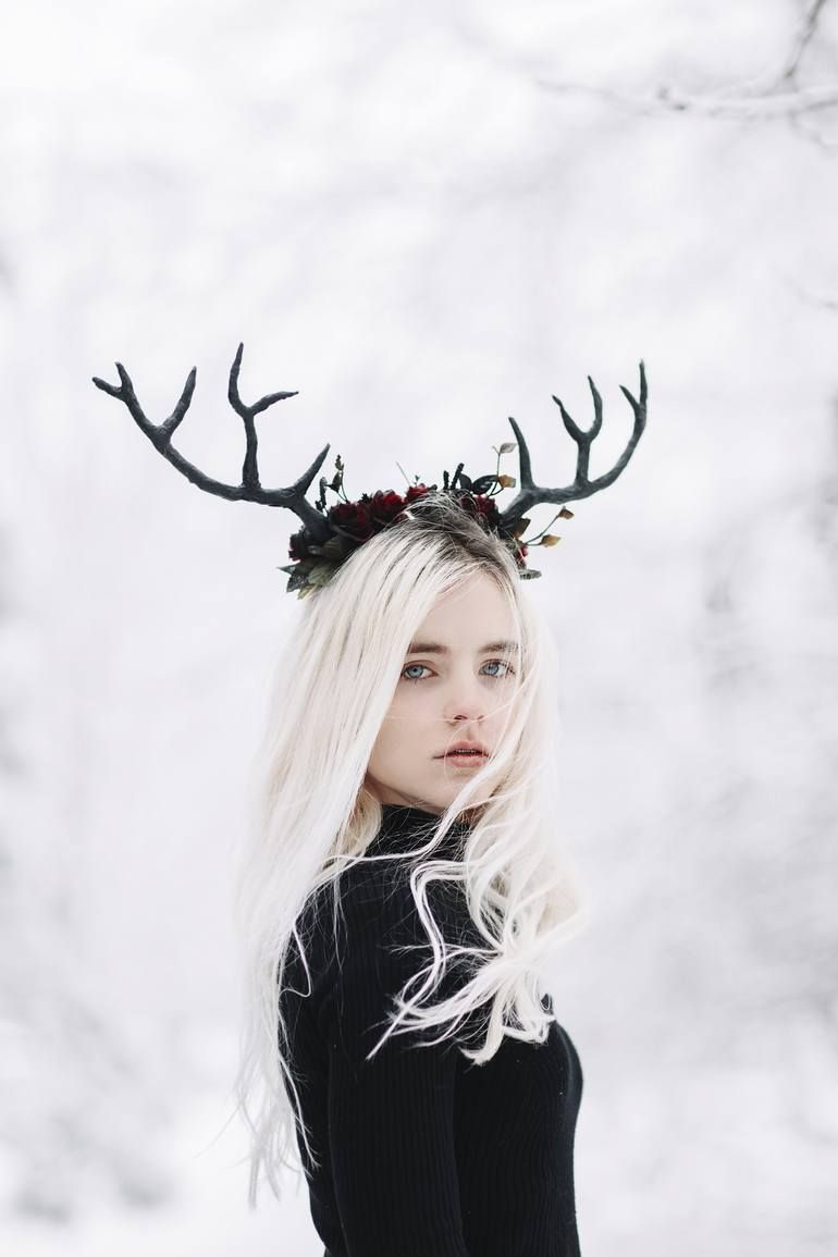 Original People Photography by Jovana Rikalo | Conceptual Art on Paper | Deer Girl - Limited Edition of 15 #Art #Conceptual #Deer #Edition #Girl #Jovana #Limited #Original #Paper #People #Photography #Rikalo