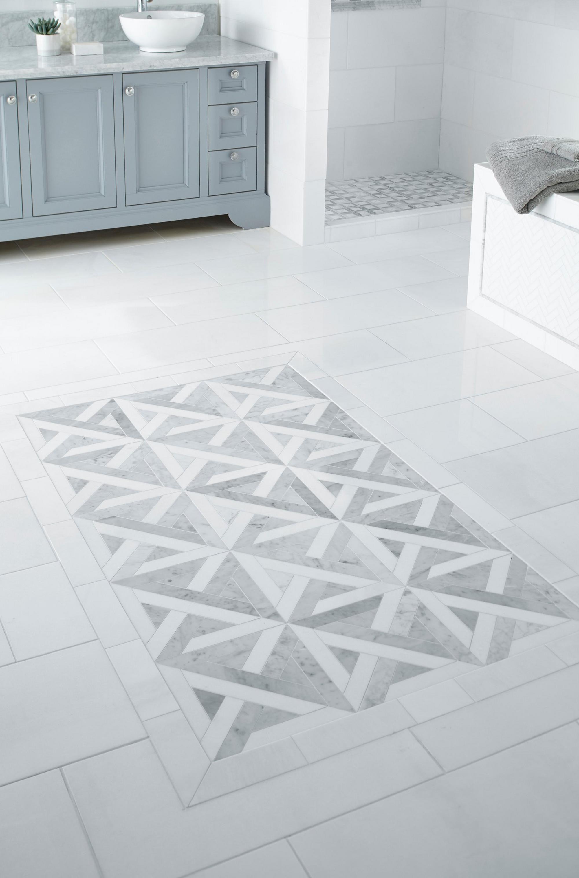 Bianco Carrara Thassos Parquet Marble Mosaic Foyer Tile Ideas Brick Wall Decor Flooring