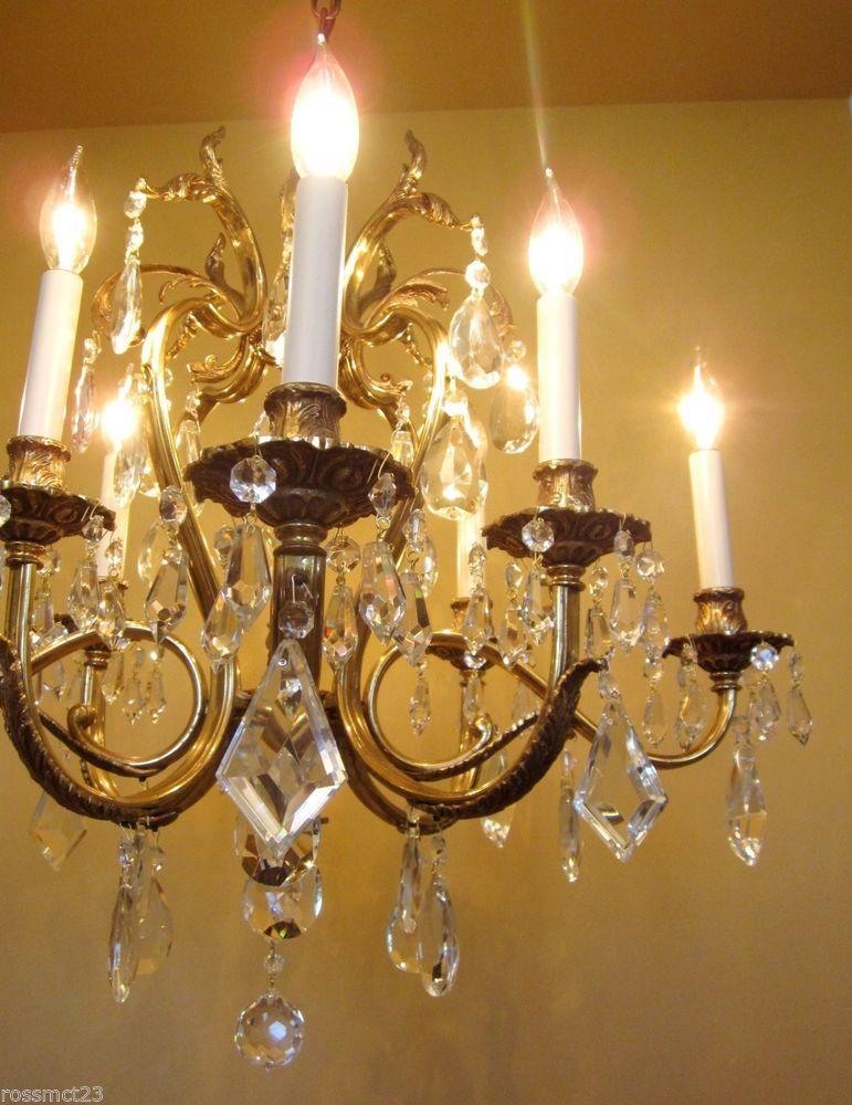 Vintage Lighting Glamorous 1970s Crystal Chandelier By Lightolier Crystal Chandelier Lightolier Vintage Lighting