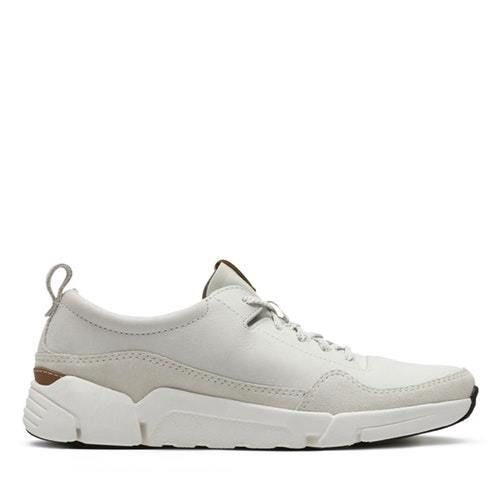 on sale c8385 4d8df NEW CLARKS MENS TRI ACTIVE RUN - MENS SPORT SHOES - WHITE LEATHER  fashion