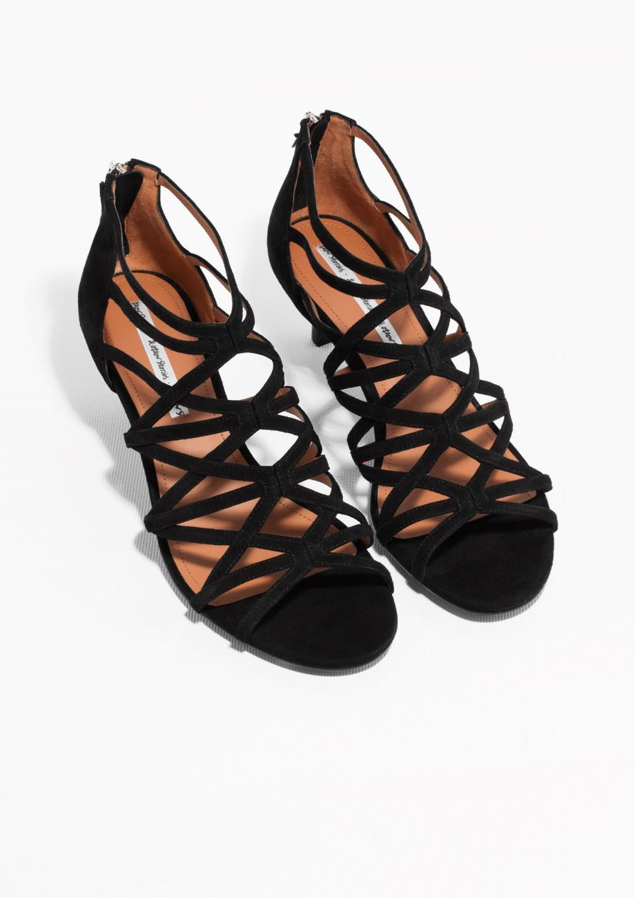 Kitten Heel Gladiator Sandals