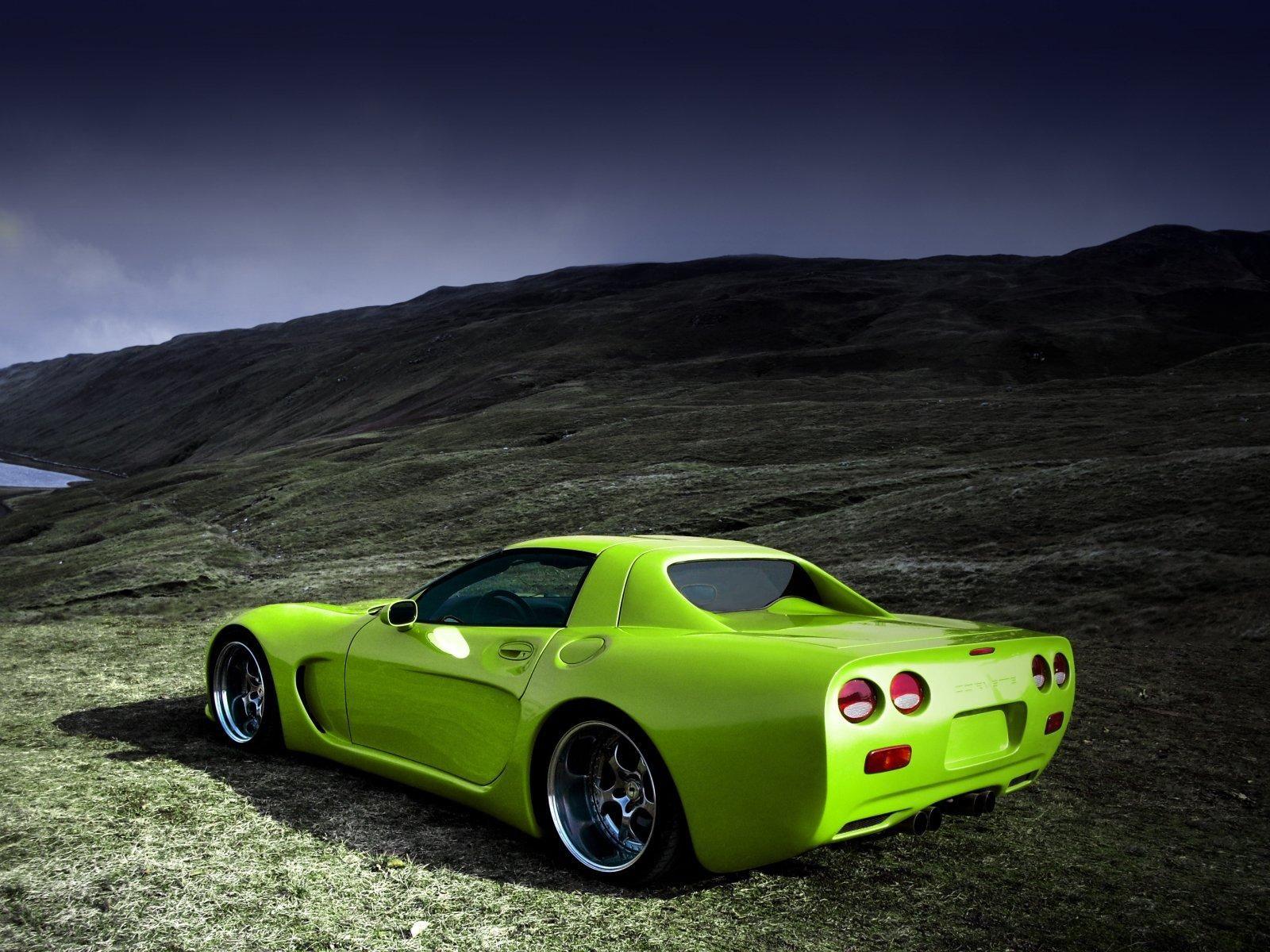 green corvette corvette c5greenwallpaperscars - Corvette C5 Logo Wallpaper