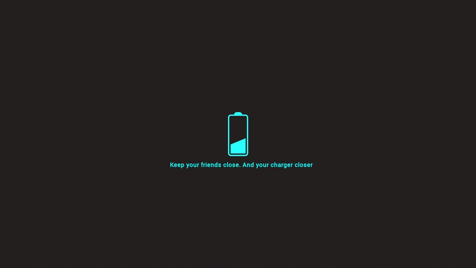 Minimalistic Dark Funny Friends Charger Battery Philosophy Neon Blue Wallpaper 2939509 Wallbase Simple Wallpapers Minimalist Decor Minimalist Home Decor