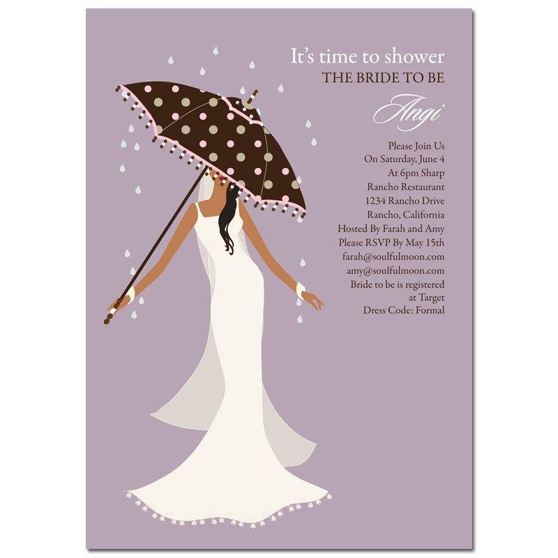 Unique African American Bridal Shower Invitations From #Soulfulmoon   Umbrella Diva