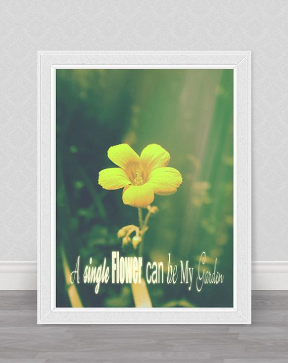 Yellow flower photography home decor / wall by GammaPhotography, $20.00