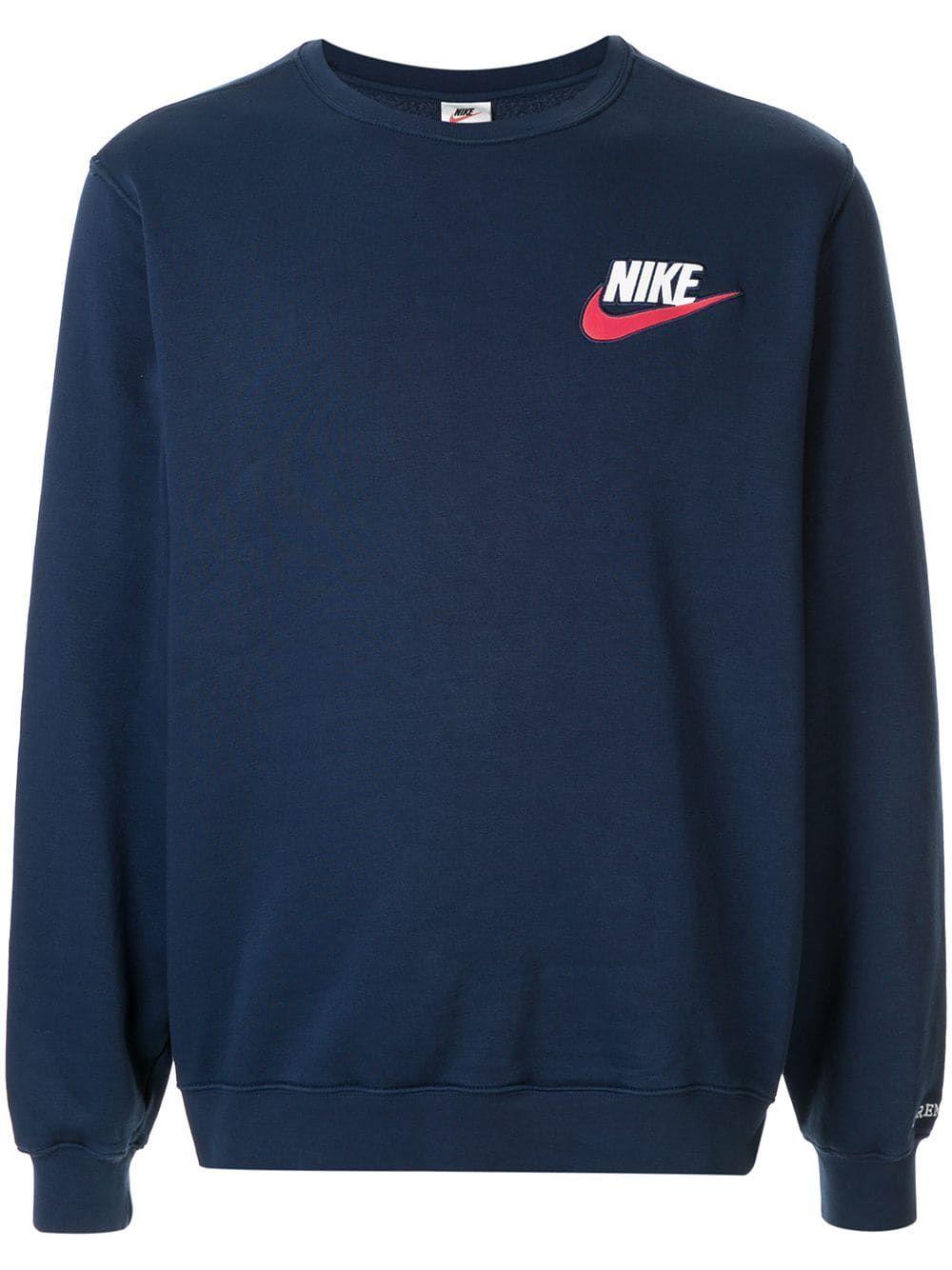 Supreme Nike Crew Neck Sweatshirt Farfetch Sweatshirts Nike Crewneck Sweatshirt Crew Neck Sweatshirt [ 1334 x 1000 Pixel ]
