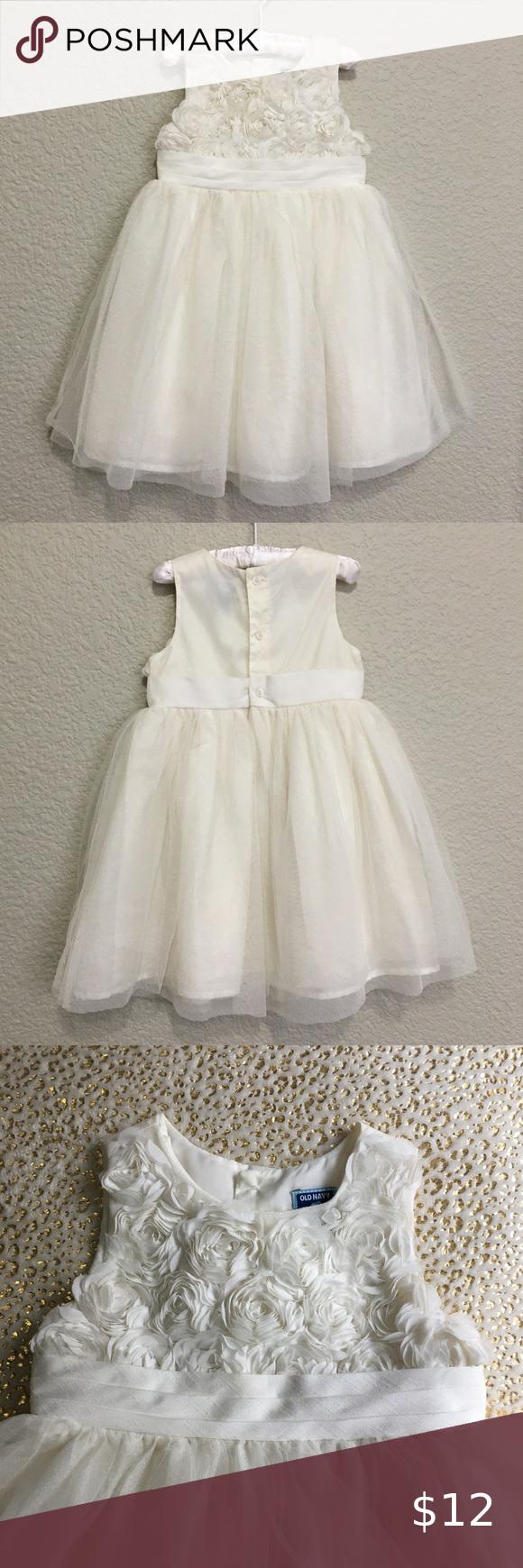 Old Navy White Rose Party Dress 3t 3t Dress Party Dress Dresses [ 1740 x 580 Pixel ]