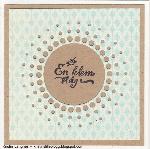Kristins lille blogg: Minikort
