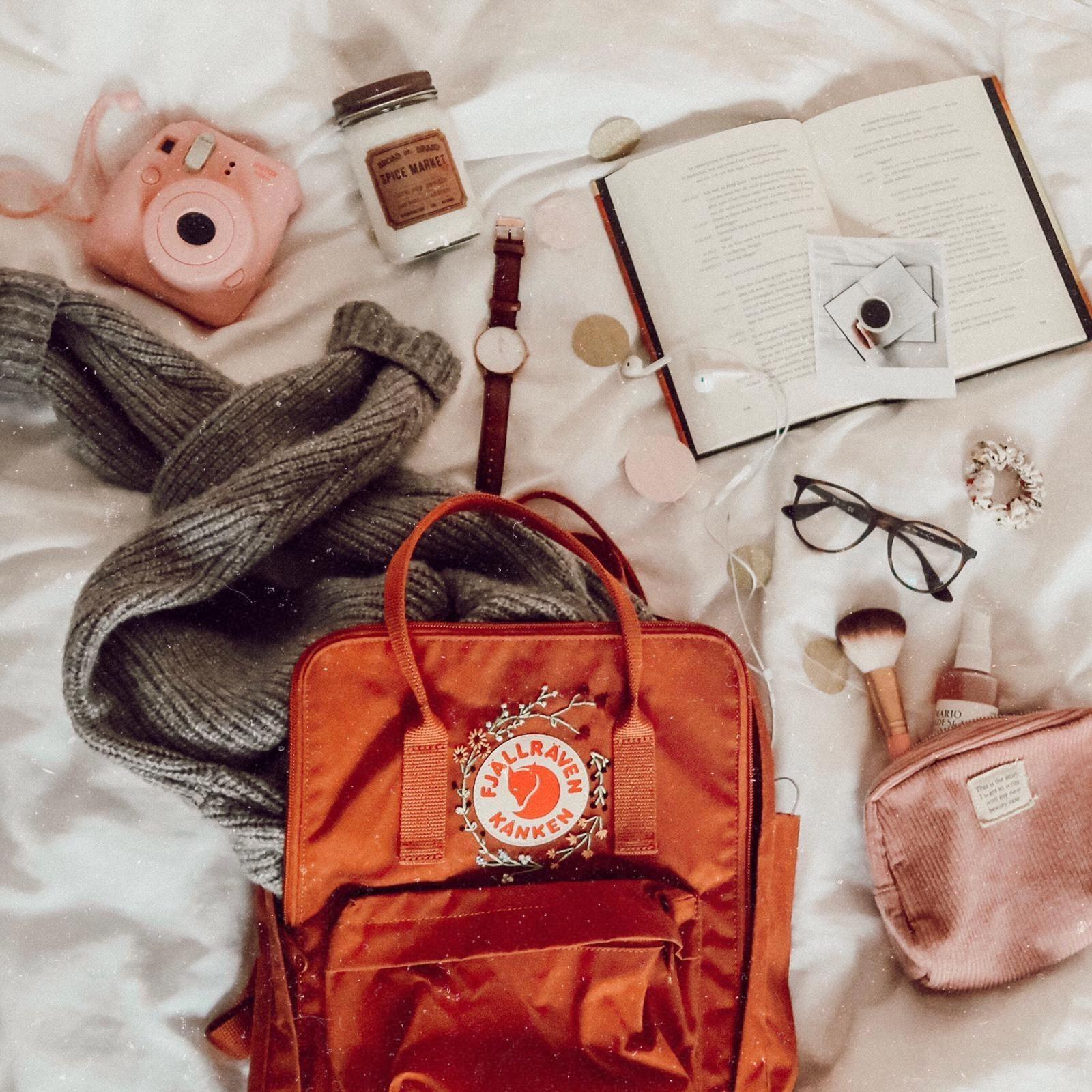 Vintage Hipster Kids Backpack Personalized