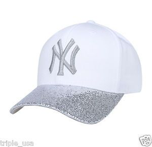 614de368397 Details about New NY Yankees Adjustable Cap MLB Korea Pink Raised ...