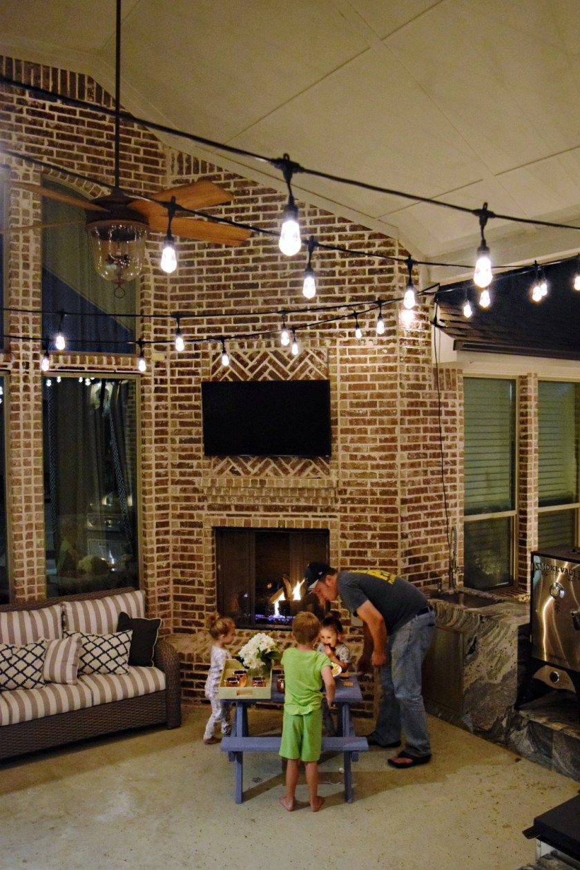 3 Fun Ways To Light Up Your Backyard This Season Enbrighten Color Changing Cafe Lights Family Smores Night Outdoor String Patio Jasco