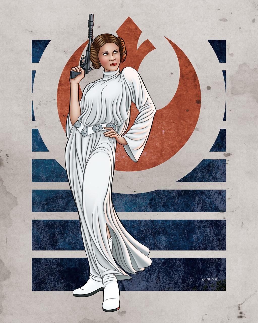 Rebel Princess Princess Leia Gift Princess Leia Art Print Leia Fan Art Vertical Print Set Princess Leia Art Princess Leia Wall Art