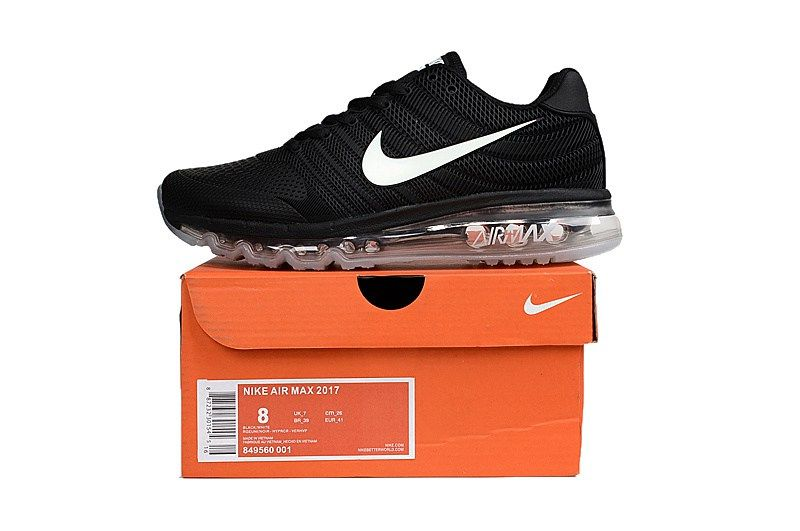 737a9b60301780 Useful Nike Air Max 2017 Women Men Black White Sole KPU Shoes