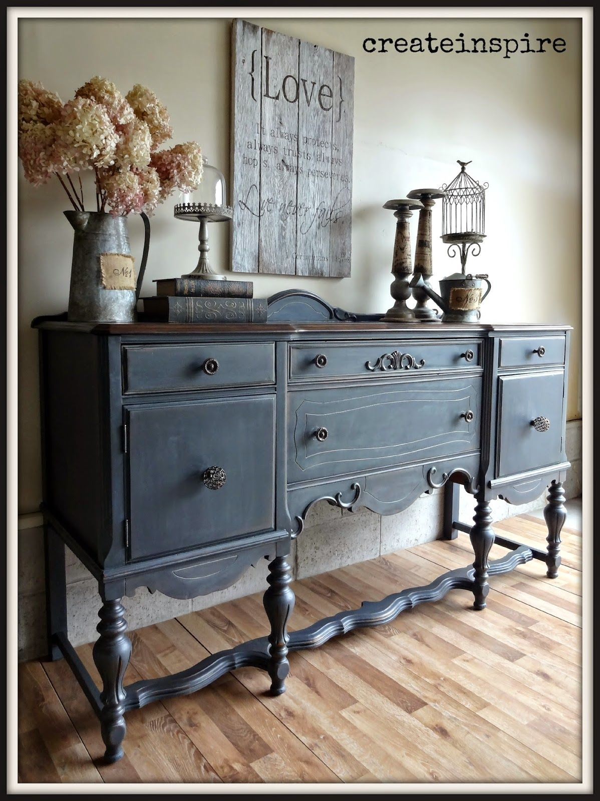 Createinspire Antique Buffet In Ash Fusion Mineral