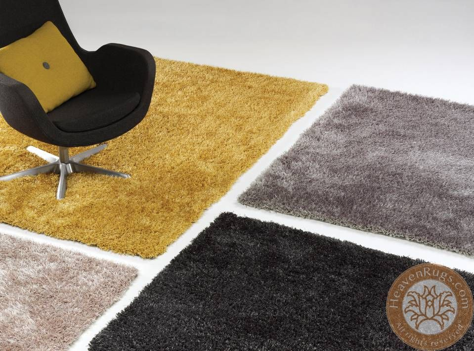 Diva stone shaggy carpet beige 100% polyester. id: as 492210 894