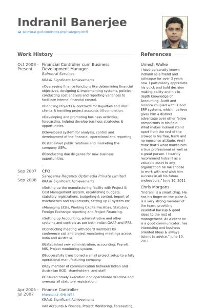 Financial Controller Resume Samples Visualcv Resume Samples Database Cv Template Resume Sample Resume