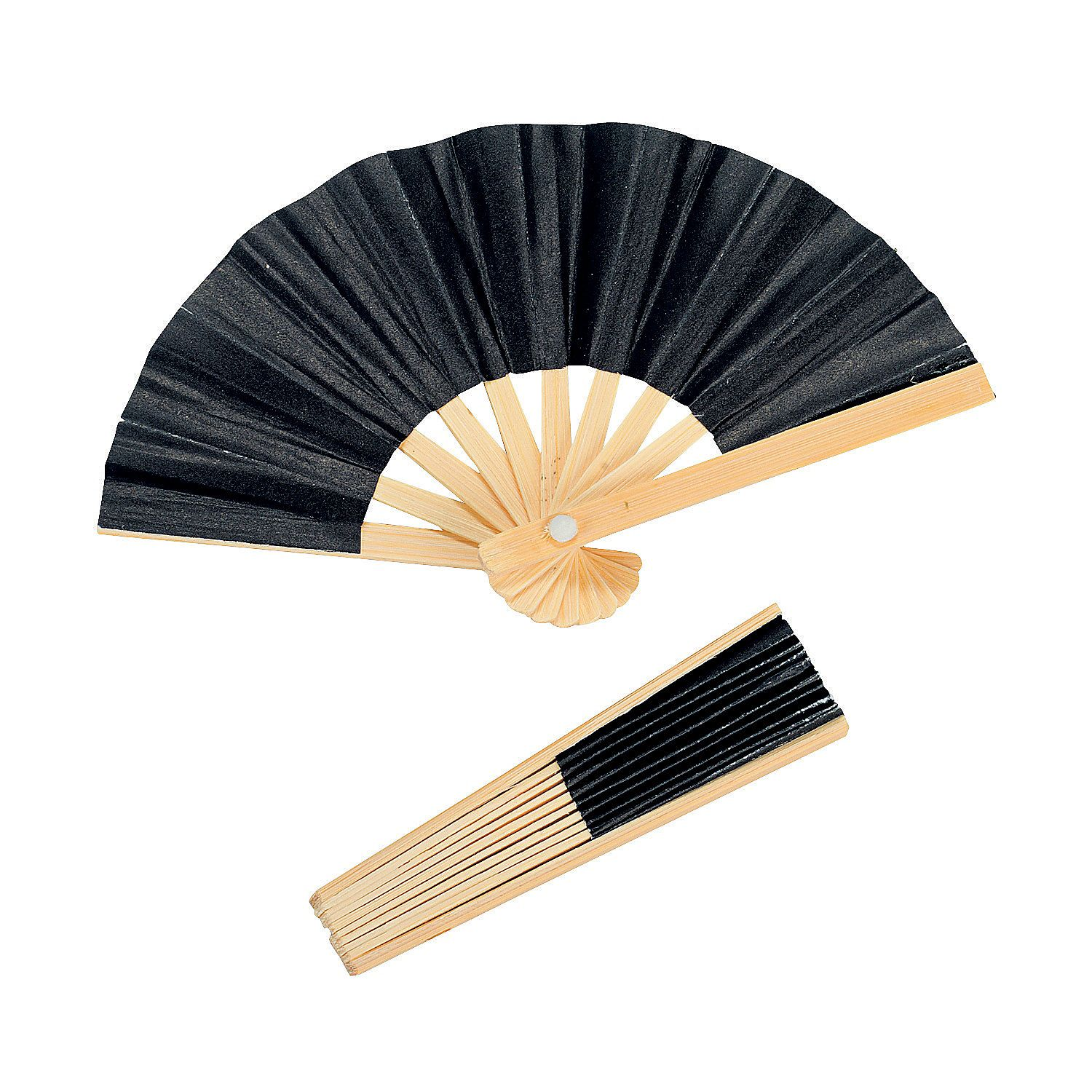 Mini Black Bamboo Folding Hand Fans   Black bamboo, Quince ideas and ...