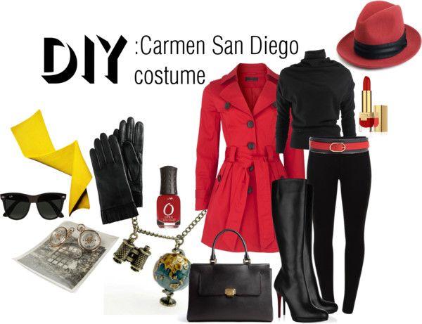 Diy Carmen San Diego Costume Polyvore Halloween