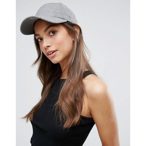 New Era Melton Classic Womens 9Forty Cap (€24) ❤ liked on Polyvore featuring accessories, hats, grey, new era cap, yankees snapback hat, baseball cap hats, new york yankees baseball cap and snapback hats