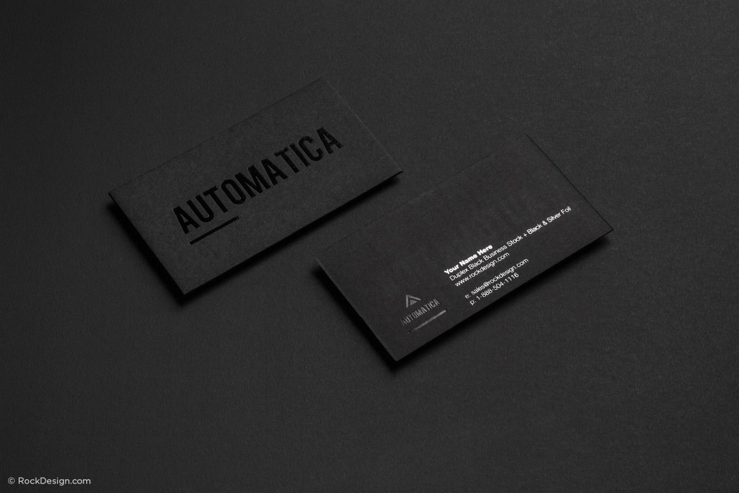 Free High End Black Business Card Template Rockdesign Com Black Business Card Printing Business Cards Business Card Design Minimalist