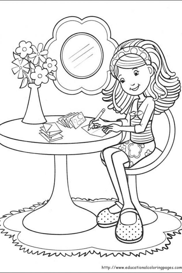Groovy Girls Coloring Pages Free For Kids Educational Fun Kids Coloring Pages And Preschool Sk Cute Coloring Pages Coloring Pages For Girls Coloring Pictures