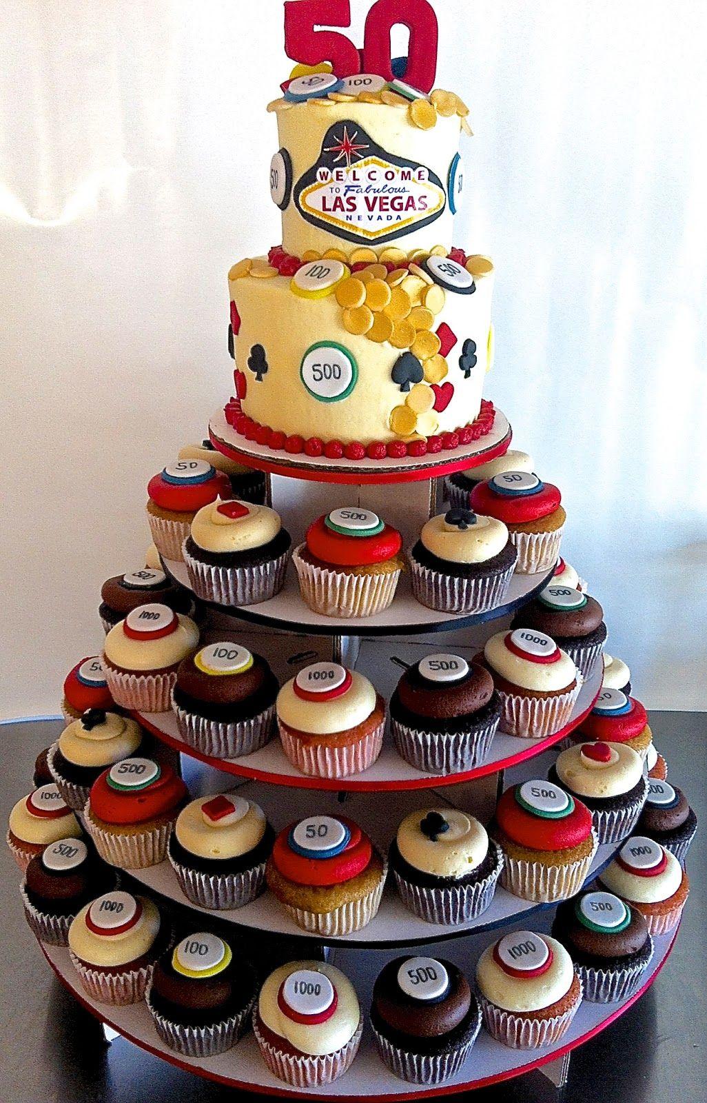 50th birthday vegas cake by half baked co 50th birthday