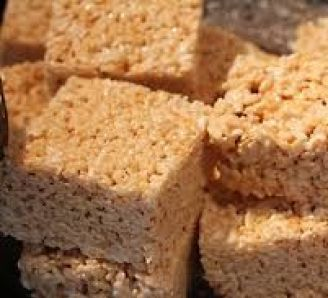 Toffee and Marshmallow Rice Krispie Treats Recipe in