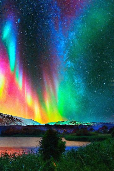 View source image northern lights aurora borealis for Sfondi aurora boreale