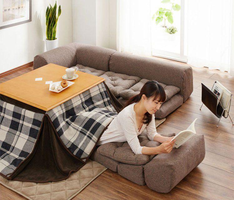 Kotatsu A Traditional Japanese Floor Sofa Made Modern With