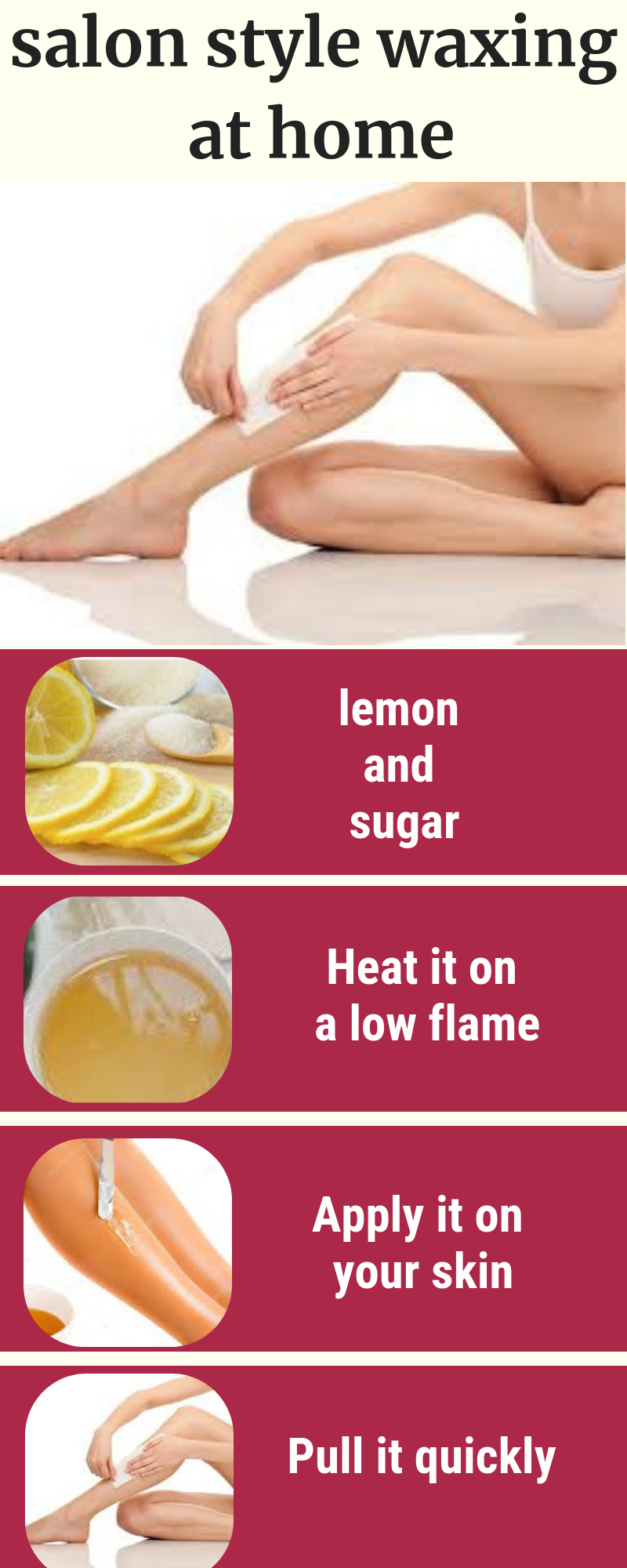 DIY Recipes To Do Hands And Legs Waxing At Home #diy #homeremedies