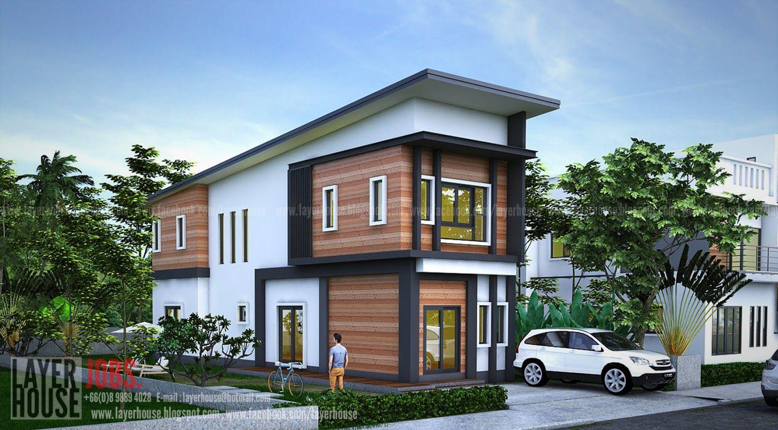 แบบบ าน 2 ช นสไตล โมเด ร น งบ 4 ห องนอน 2 ห องน ำ ประมาณ 1 65 ล านบาท Bungalow House Design Modern Bungalow House One Storey House