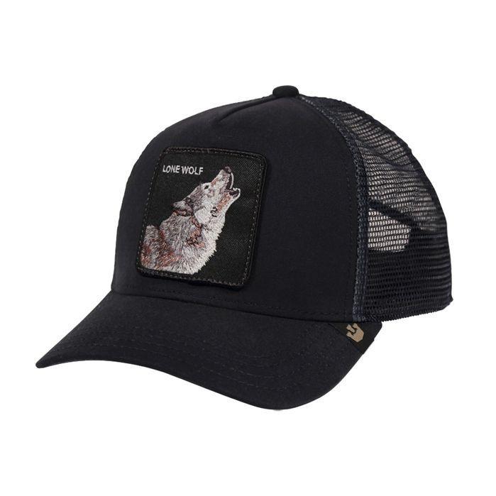 Goorin Bros Animal Farm Baseball Cap Black Wolf Snapback Breathable Trucker Hat