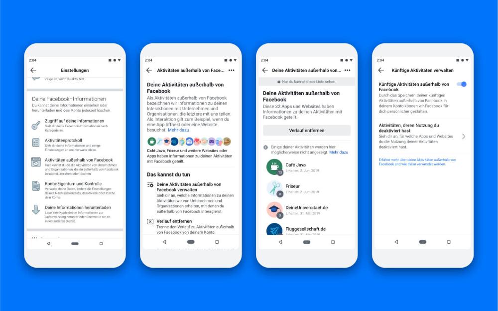 Tool Zur Loschung Der Aktivitaten Ausserhalb Von Facebook Jetzt Fur 2 Mrd Menschen Verfugbar In 2020 Facebook Soziale Netzwerke Apps
