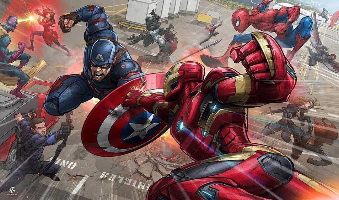 """Captain America Civil War"" (Deviantart.com) Tags #videogames #games #Ps4 #gamer…"