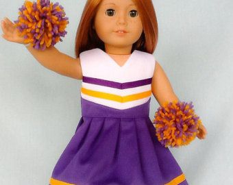 e653aa25de64 Red and White Cheerleader Cheer Dress for American Girl 18 inch doll ...