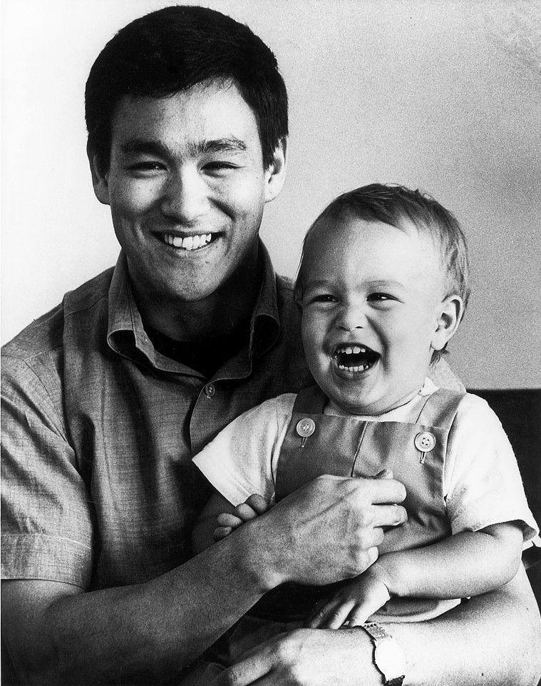 Bruce Lee & Son Brandon Lee