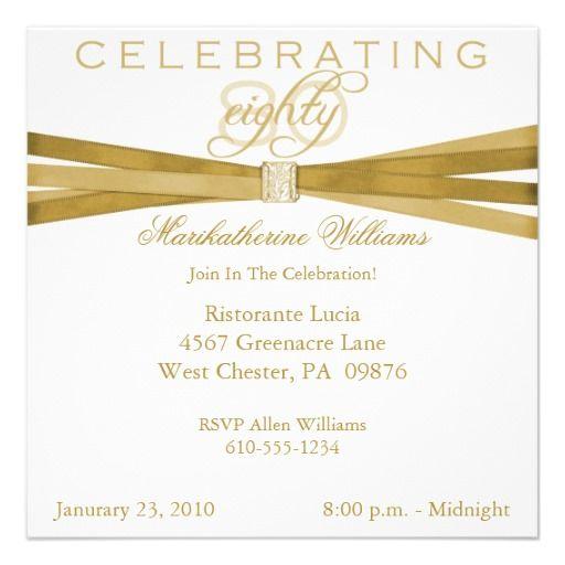 wording for 80th birthday invitation