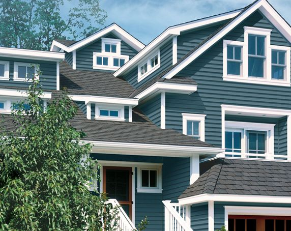 Color Of My New House Pacific Blue Blue Siding Facade House House Exterior
