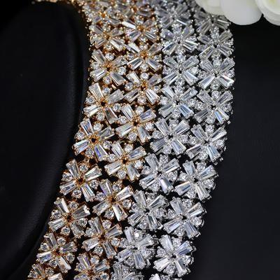 975c1c2cb CWWZircons Exclusive Dubai Gold Plate Jewellery Luxury Cubic Zirconia -  chicmaxonline