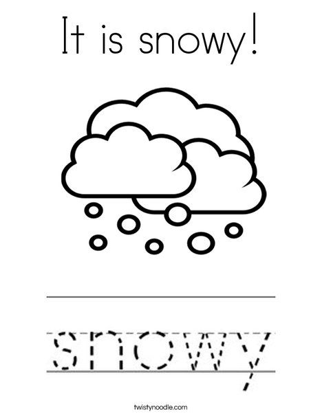 snowing coloring pages It is snowy Coloring Page   Twisty Noodle | Worksheets | Weather  snowing coloring pages