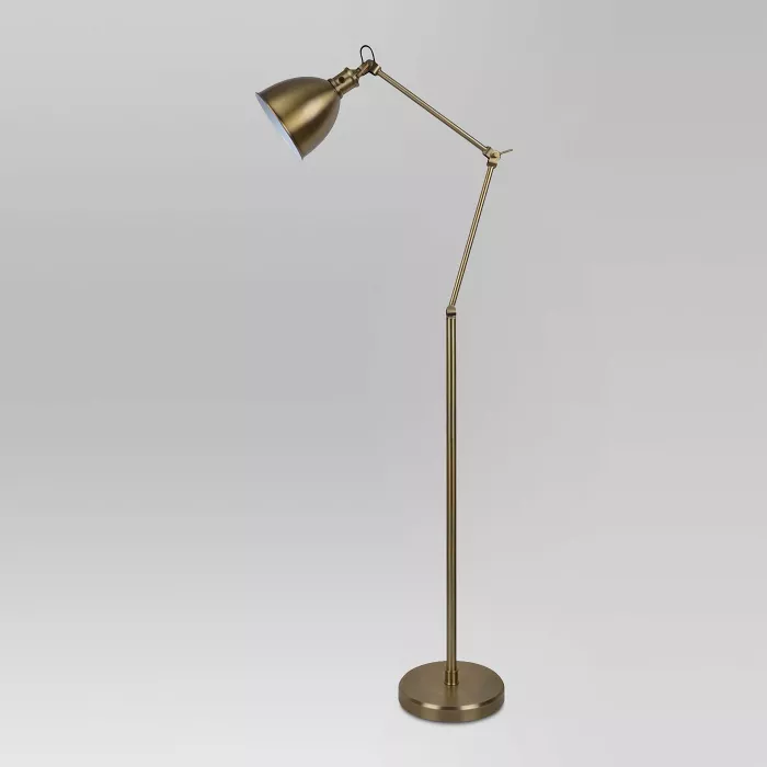 Industrial Task Floor Lamp Brass Threshold In 2020 Task Floor Lamp Floor Lamp Brass Floor Lamp