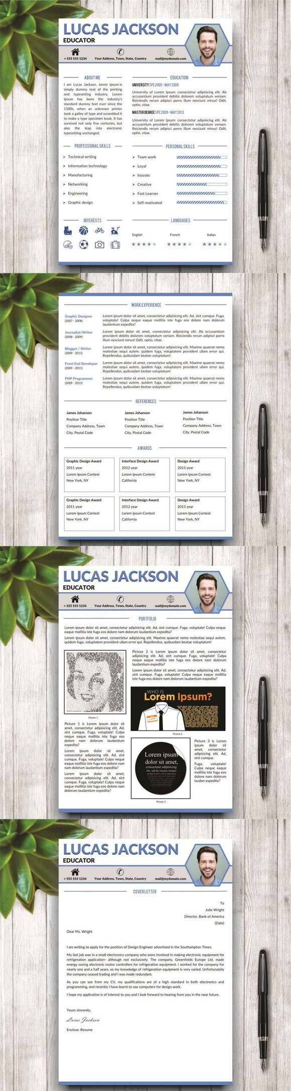stylish resume template for ms word - Stylish Resume Templates Word