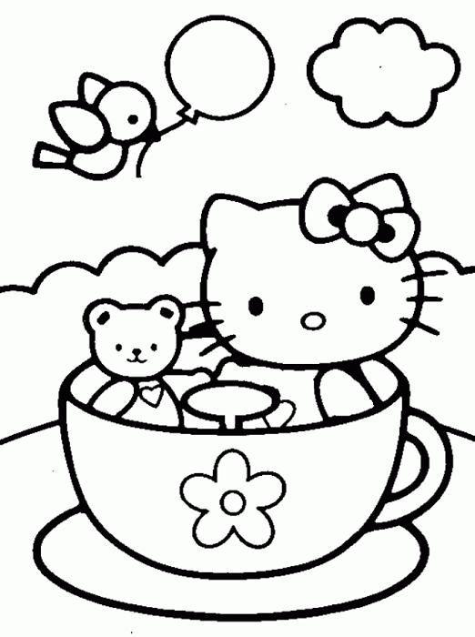 Dibujos para colorear de Hello Kitty  9 pasos  unComo  sobre