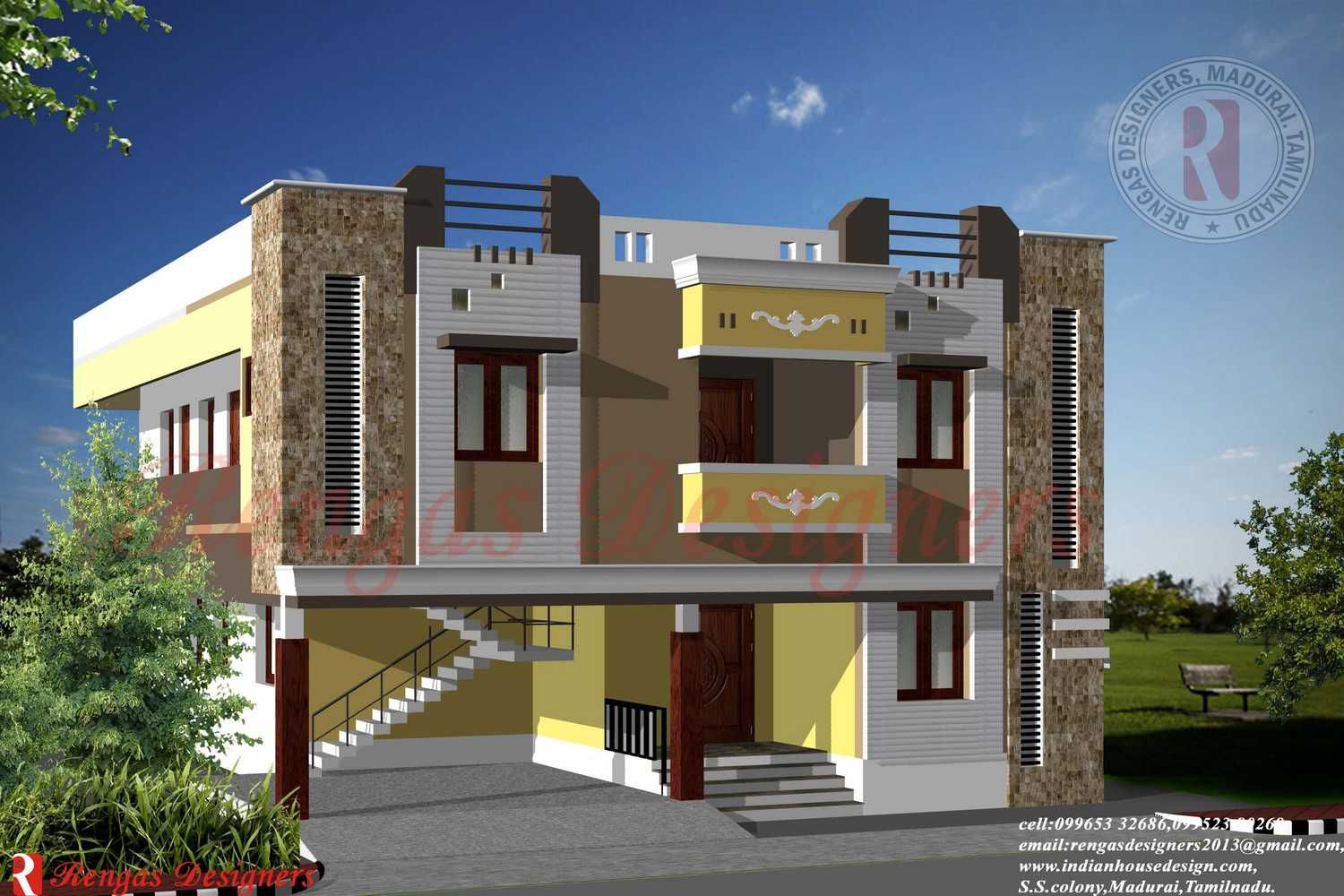 Front Elevation Two Storey Building In Hyderabad : Parapet wall designs google search residence