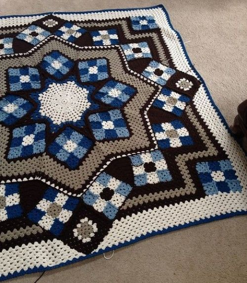 Blue Star afghan - Free Pattern | Stuff | Pinterest | Deckchen ...