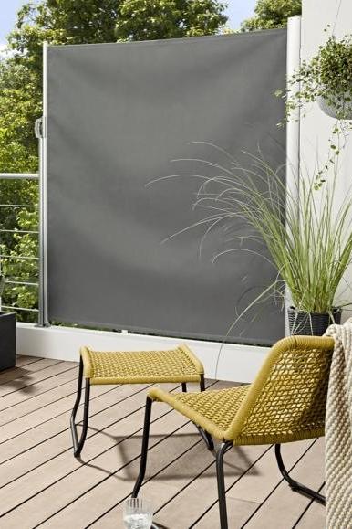 Wie Ein Rollo Seitenmarkise Von Tchibo Bild 7 Markise Balkon Sichtschutz Balkonverkleidung